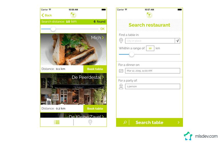 TableFever App Developed by MLSDev