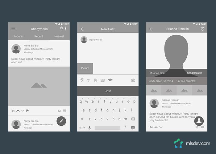 UX Design of the erodr App