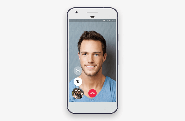 Switching Between the Main and Front Cameras in Google Duo