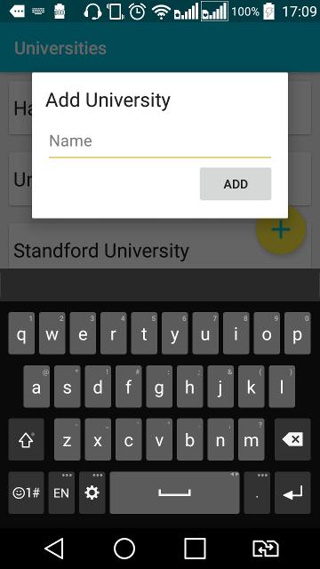 Adding a New University