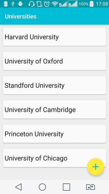 The List of Universities
