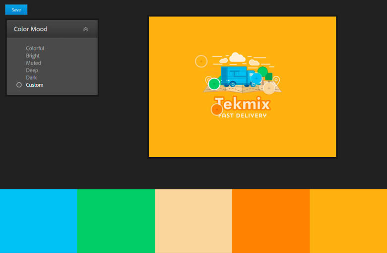 Color Palette from Design Source Materials