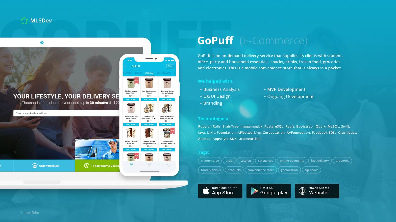 GoPuff developed by MLSDev