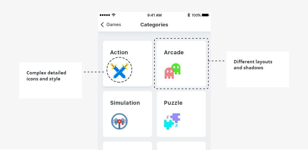 Complex app design