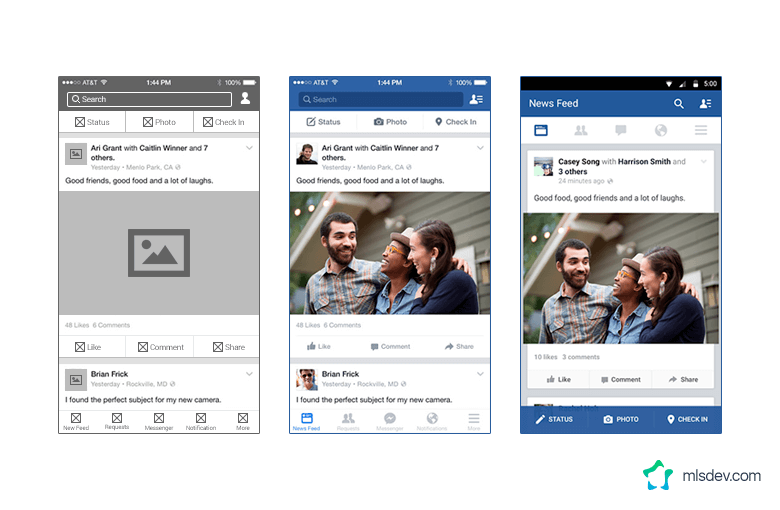 Facebook UX and UI Design